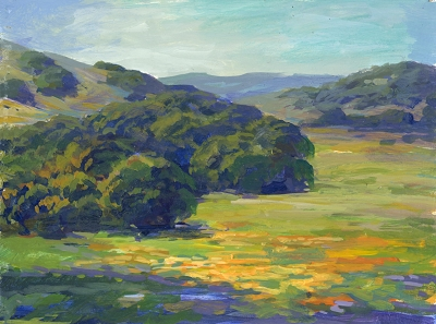Study for Spring Hills of Northern California, 6