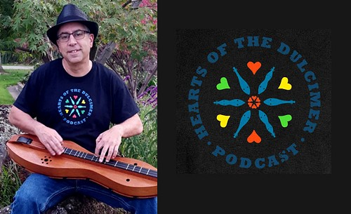 Hearts of the Dulcimer Podcast t-shirt